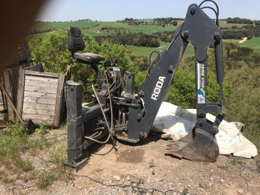 Pala retro tractor